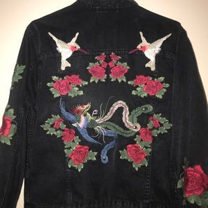 embroidered jean jacket from pacsun